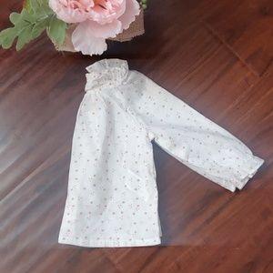 Zara Baby Girl Top Blouse White with Stars